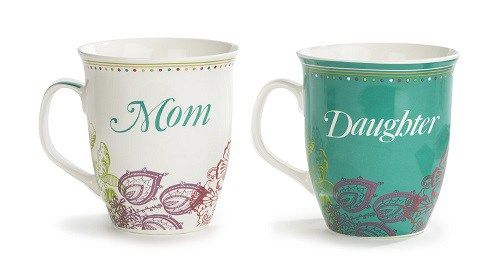 Mothers Day Gift Ideas Mom And Daughter Mug Set Mothers Day