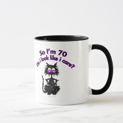 Birthday Gifts Ideas 70th Cat Mug