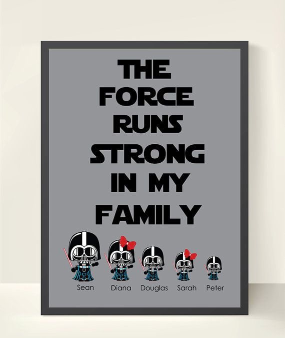 Mothers day gift ideas star wars personalized family wall art family mothers day gift ideas star wars personalized family wall art family tree family wall art darth vg solutioingenieria Gallery