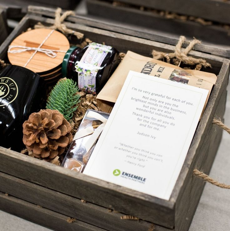 Unisex Corporate Retreat Gift Crates by Artisan Gifting Business Marigold & Grey