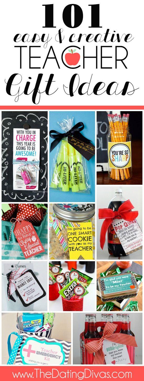 101 Teacher Gift Ideas including ideas for the first day of school, for teacher ...