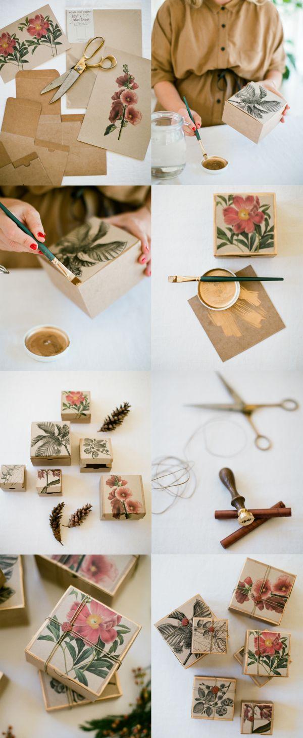 DIY Unique Gift Wrapping Tutorial via oncewed.com