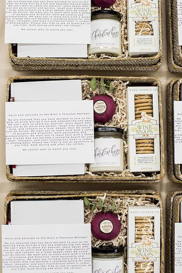 CORPORATE EVENT WELCOME BOXES by Marigold & Grey; Image: Lissa Ryan Photo; #welc...