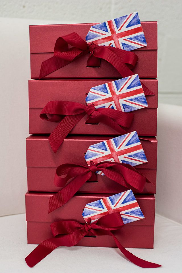 Wedding welcome gifts with some london flair. Let us create the perfect customiz...