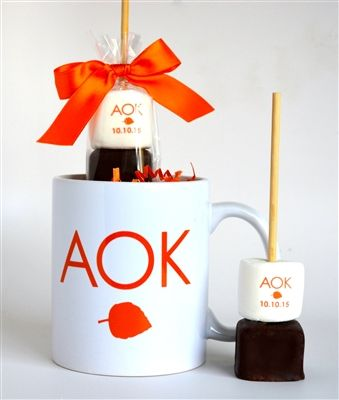 Logo Hot Chocolate stick with matching mug. Such a cool Mitzvah, holiday client ...