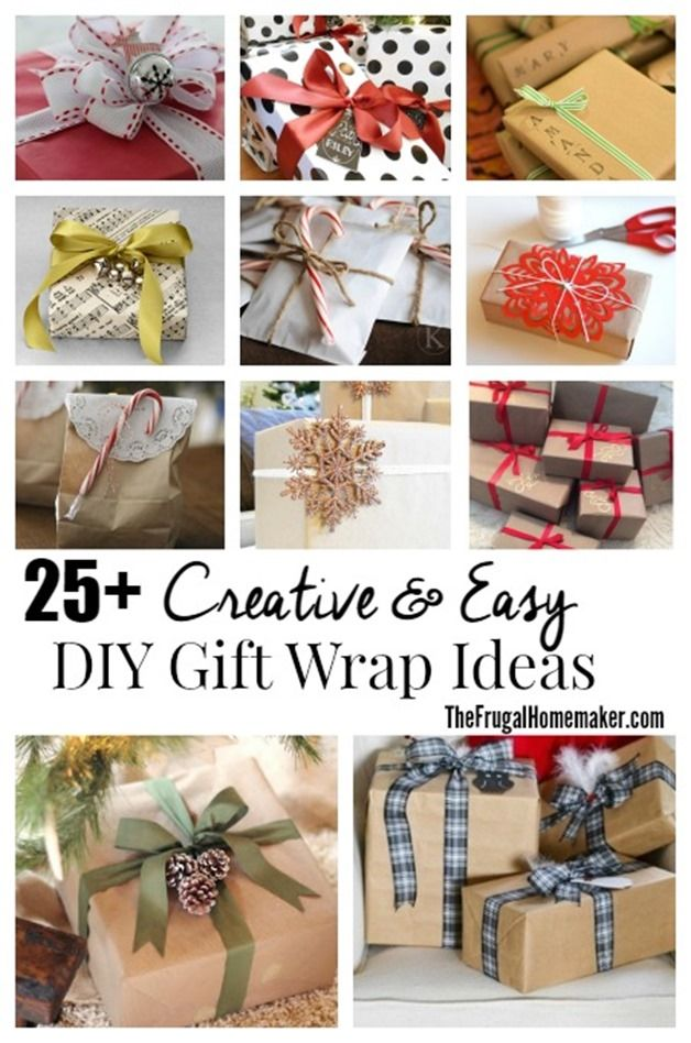 25+ Creative & Easy DIY Gift Wrap Ideas  part of a series - 31 days to take the ...