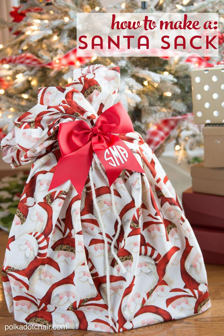 3 Cute and clever ways to wrap gifts this Christmas. Including how to make a san...