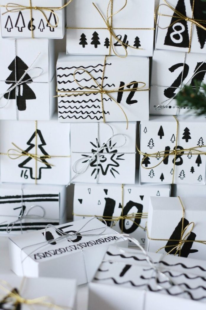 Advent Calendar Wrapping Ideas : Gifts wrapping ideas advent calendar diy printable
