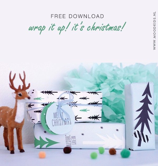 #Christmas #wrapping #paper #freedownload #diy