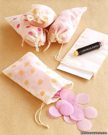 ~Stamped confetti bags~
