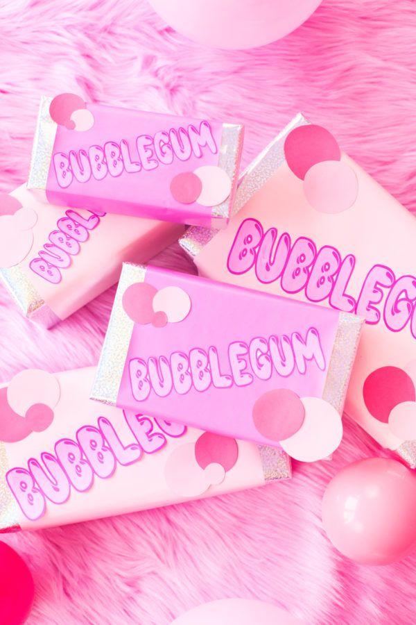 DIY Bubblegum Gift Wrap   studiodiy.com