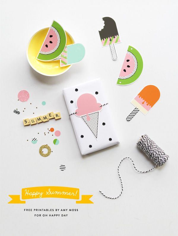 Free 'Happy Summer' Printables via Oh Happy Day