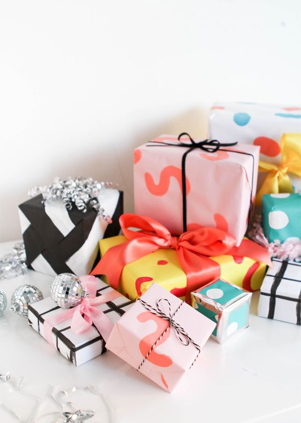Hand-Painted Wrapping Paper | Oh Happy Day!