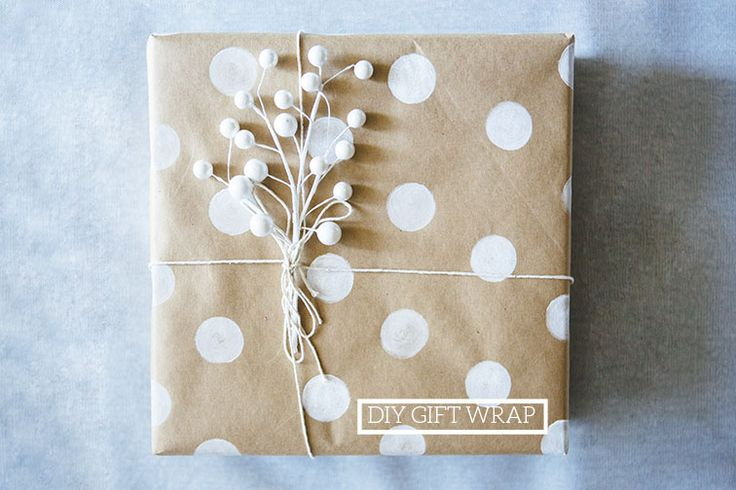 Homemade dotty paper and a decorative plant.