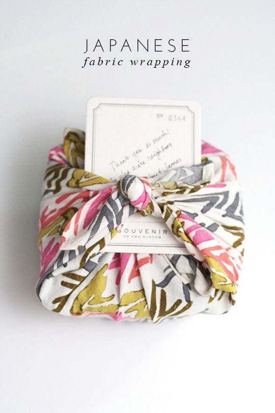 Much prettier than paper// how-to-wrap-gifts-with-fabric #Japan #Fabric wrapping