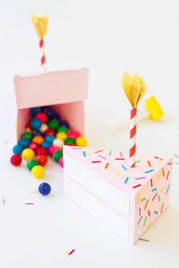 How to Make a Birthday Cake Box | studiodiy.com