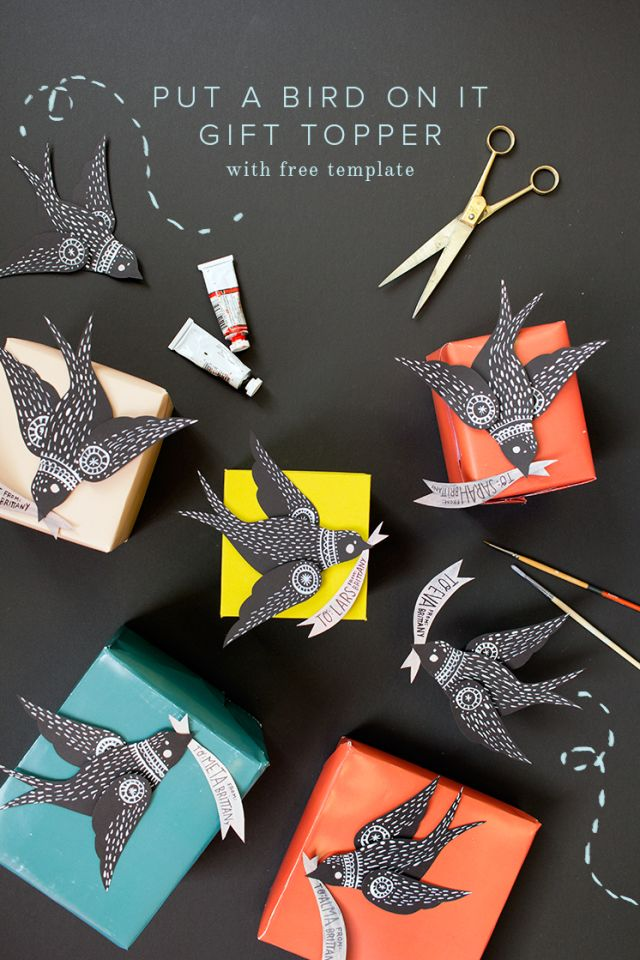 PUT A BIRD ON IT GIFT TOPPER // with free template