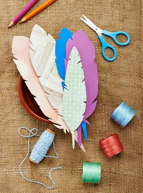 gifts wrapping ideas paper feather downloadable template