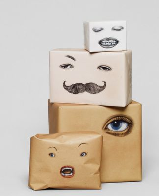 Playful wrapping paper by Swedish designers, Happy F.