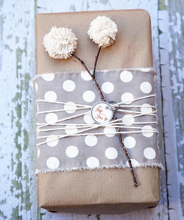 Polka Dot Fabric Wrapping