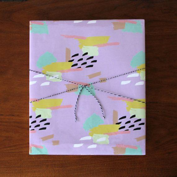 Purple Rain Wrapping Paper Sheets