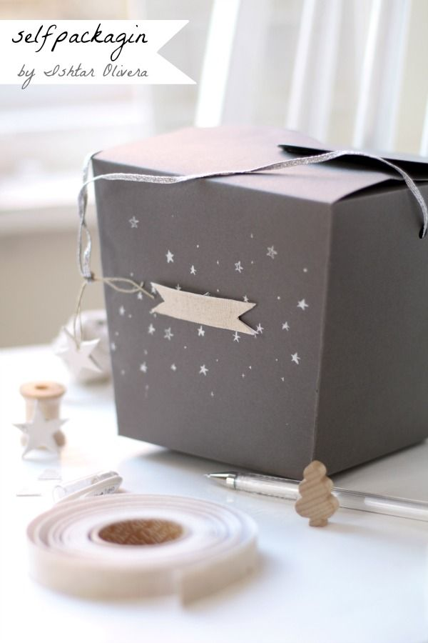 Starry decorated gift box