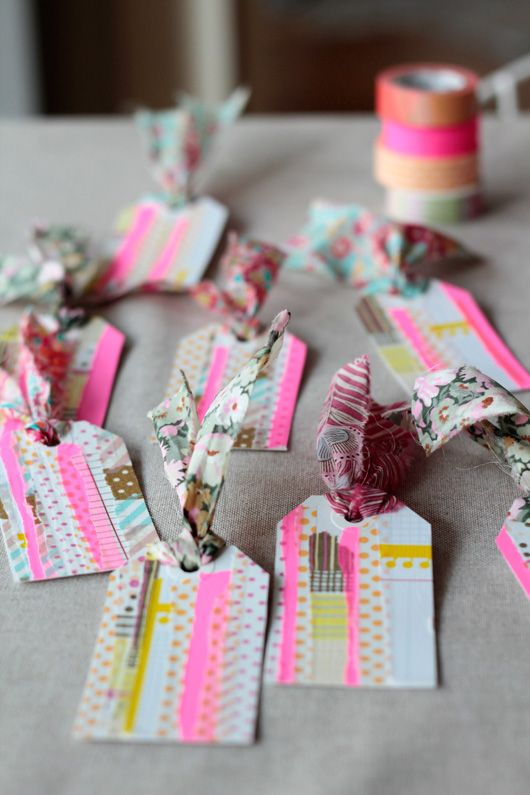Washi Tape Gift Tags DIY…