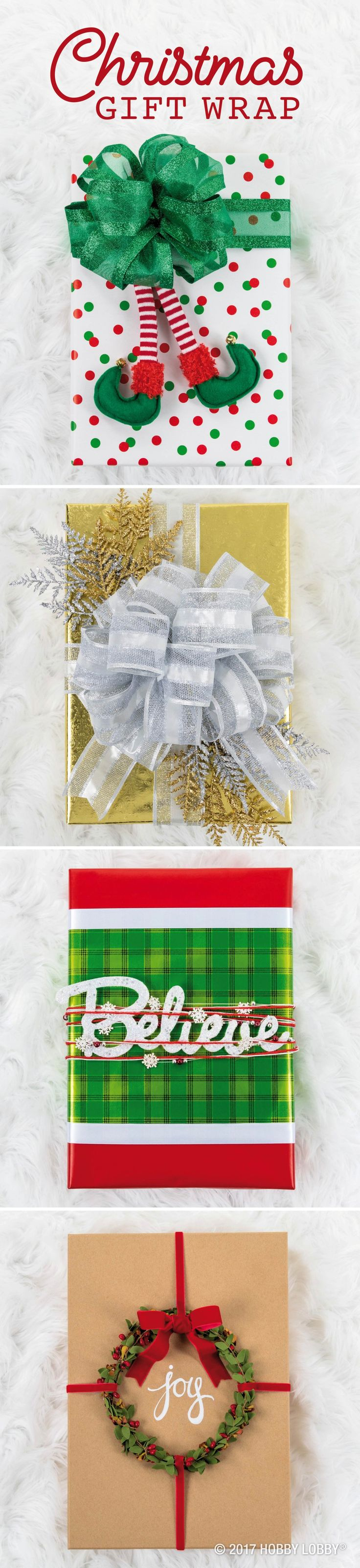 Wrap your way to present perfection with bows, picks and other embellishments!
