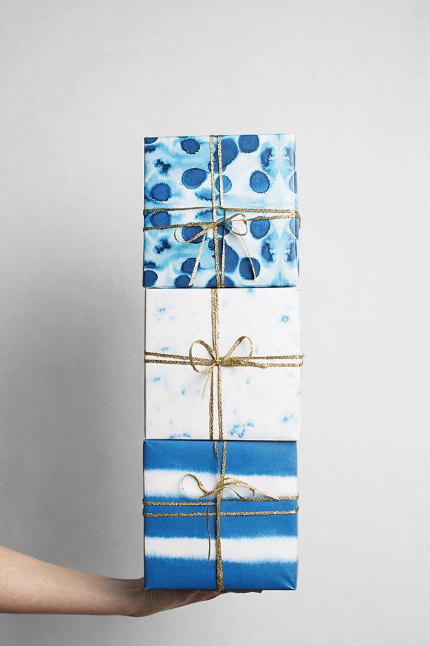 indigo gift wrap