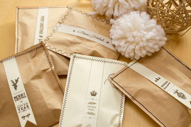 Christmas craft: Diy Last minute sweet bags