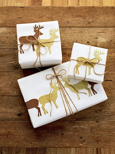 Deer silhouette wrapping paper