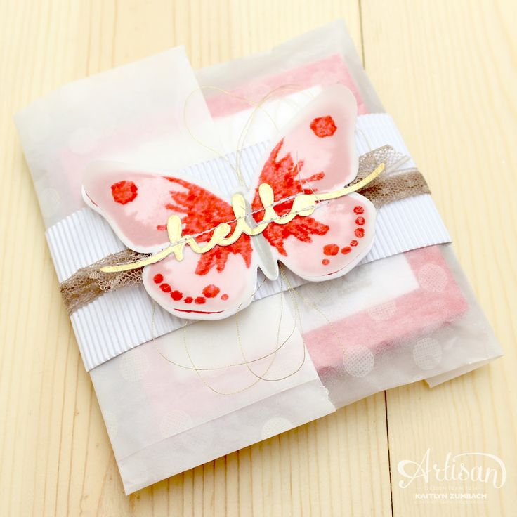 I love all of the textures on this packaging of little cards. -Kaitlyn Zumbach
