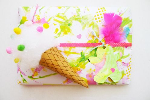 My Life As A Magazine: It's a wrap with ice-creams & feathers!!