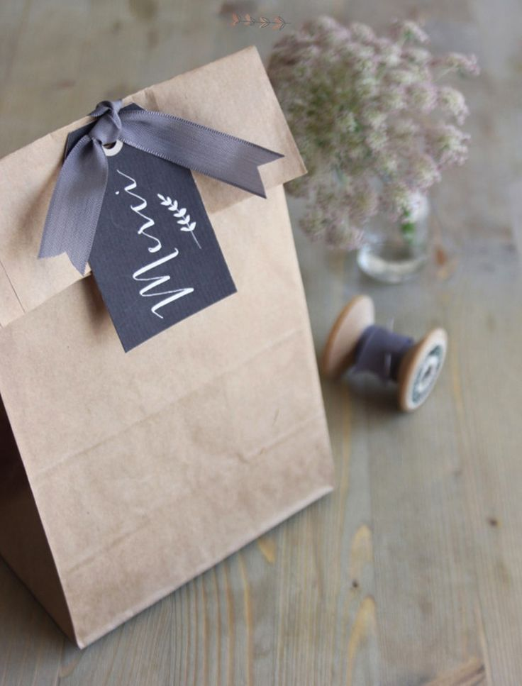 Paper bag gift wrapping