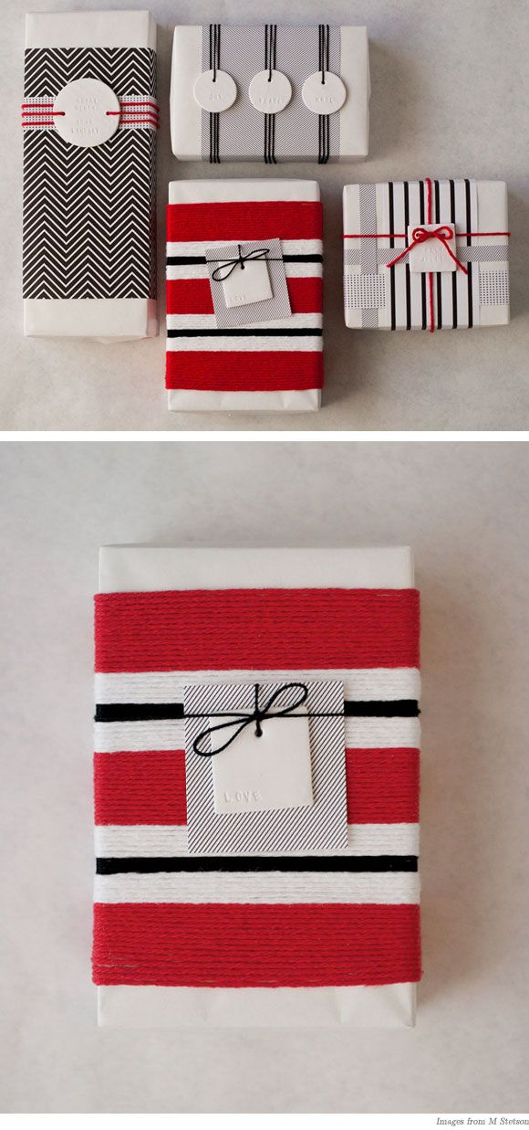 cute way to wrap gifts.