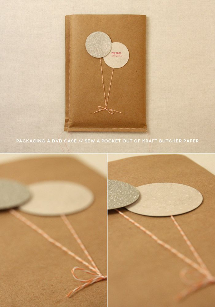 DIY photography packaging // DVD cases // use kraft butcher paper! (fig. 4)