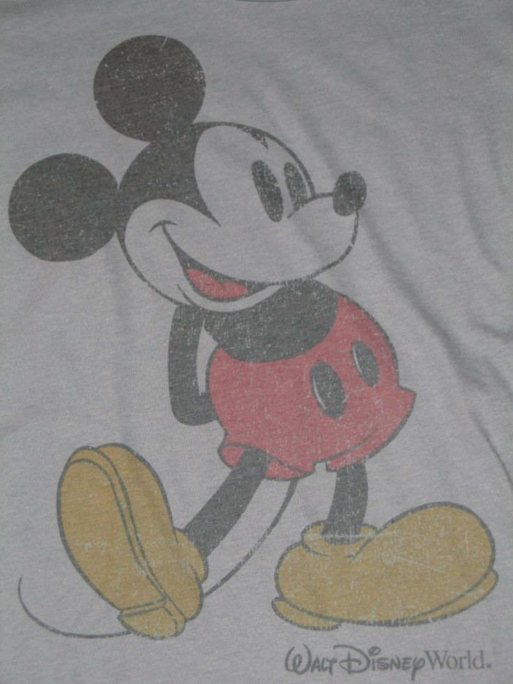 Mom Birthday Gifts Classic Mickey Mouse Womens T Shirt Walt Disney World Parks Blue Size Small E