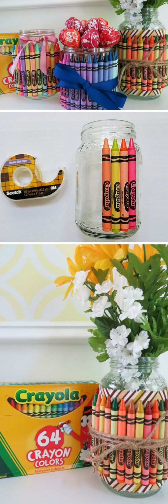 Teacher Gifts : Crayon Container | DIY Christmas Gifts for Teachers ...