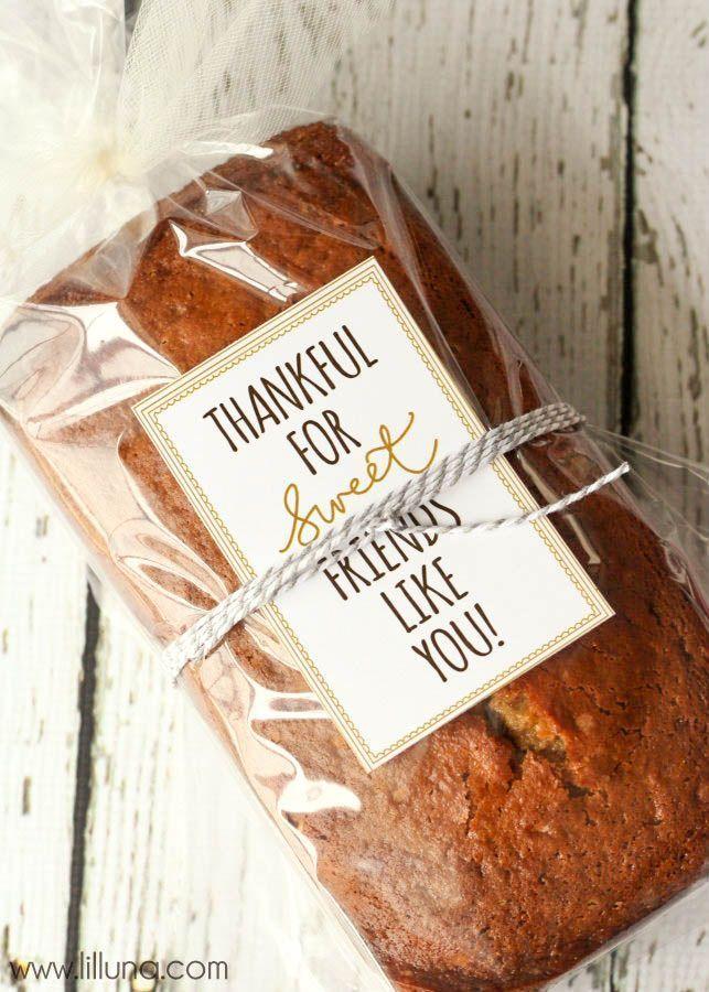 Teacher Gifts : Home Baked Banana Bread - 15 Homemade Christmas Gift ...