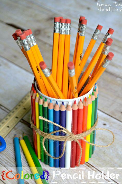 teacher gifts ideas diy teacher gift colored pencil holder made