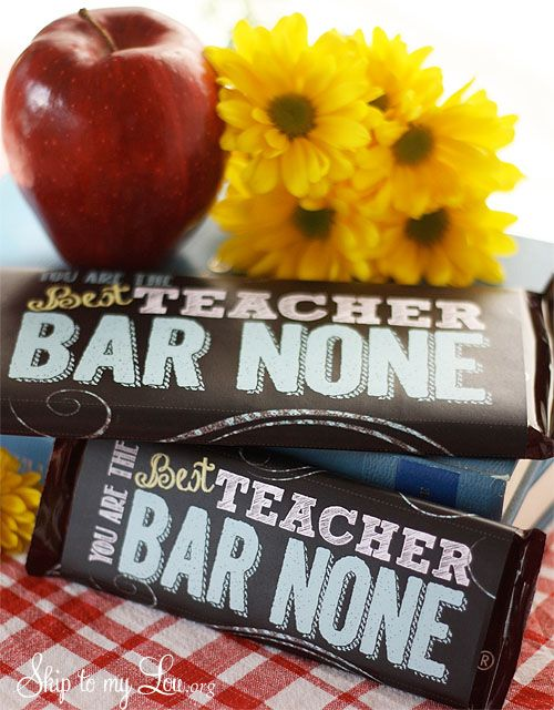 Free printable candy bar wrapper for a creative teacher appreciation gift idea #...