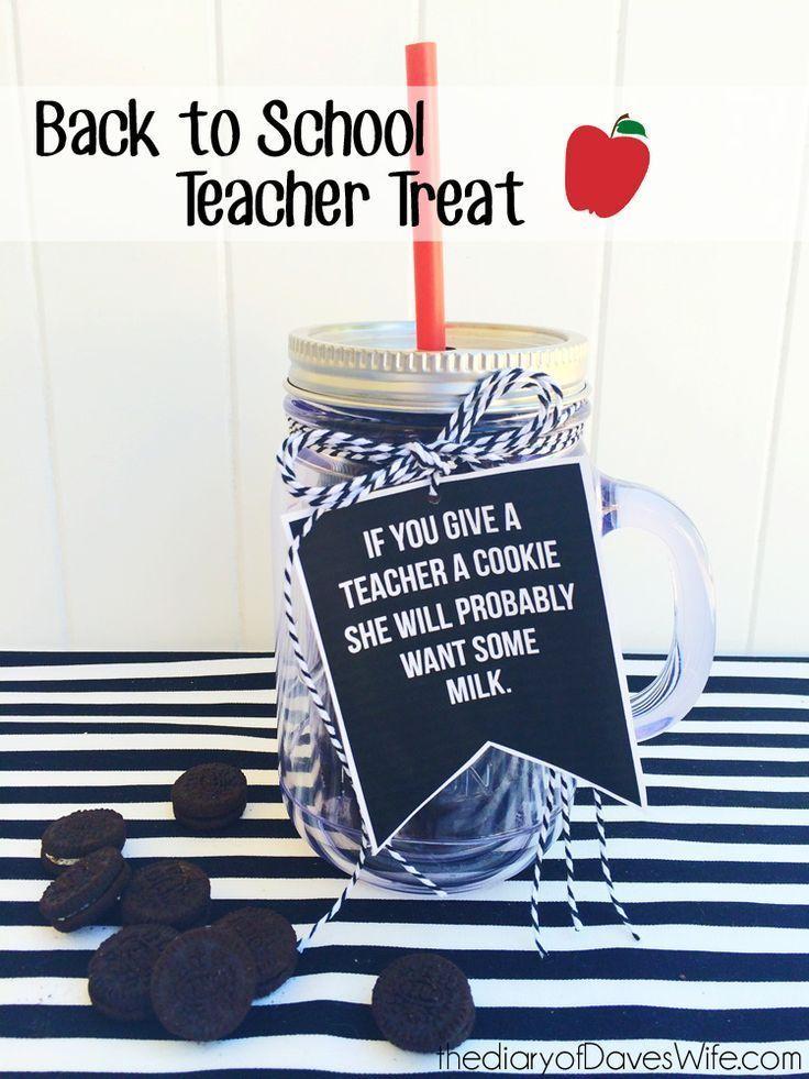 If you give a teacher a cookie - teacher gift