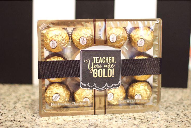 Cute and Simple Teacher's Appreciation gift idea from kiki and company. Free pri...