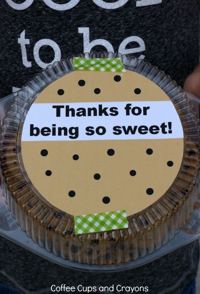 Thanks for Being So Sweet Free Printable Teacher Appreciation Gift #print #teach...