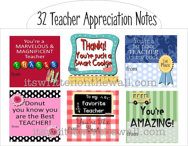 Teacher Gifts It39s Written On The Wall Freebies 32
