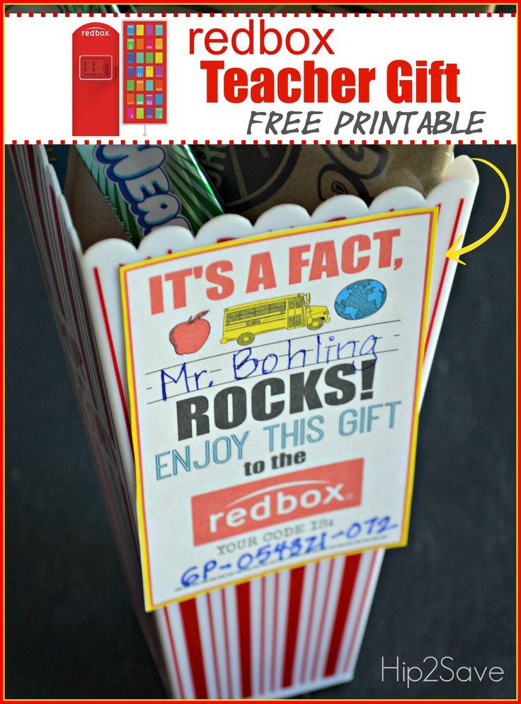 Teacher Gifts Teacher Appreciation Gift Idea Gift A Redbox Code