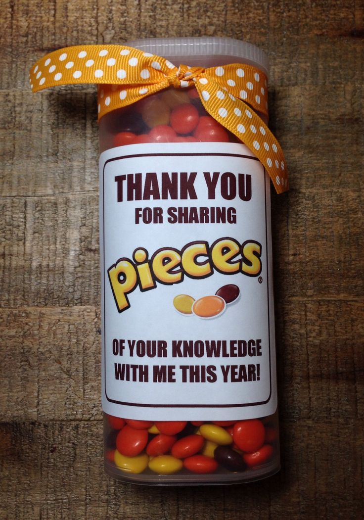 Teacher Appreciation Gift - Reese's Pieces in a Crystal Light container...