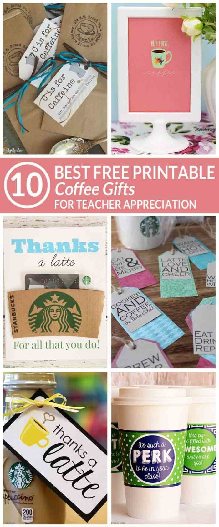 easy teacher gift | free printable coffee teacher appreciation gifts | free teac...