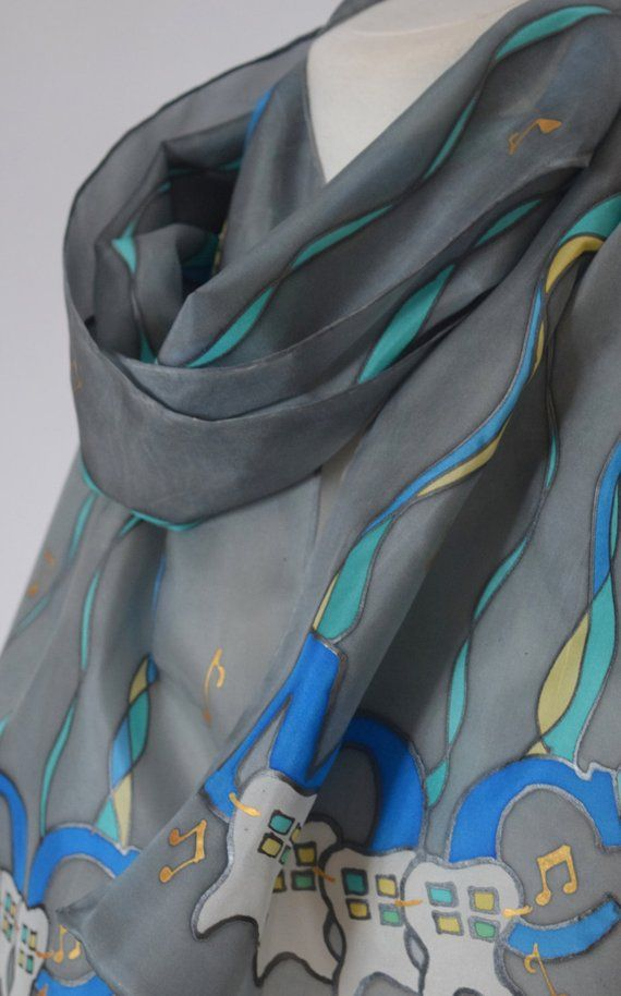 Corporate gift for her, unique business gifts , custom logo silk scarf