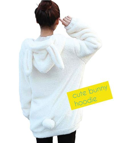 Birthday Gifts For Teenagers Fashionable And Cute Bunny Hoodie For